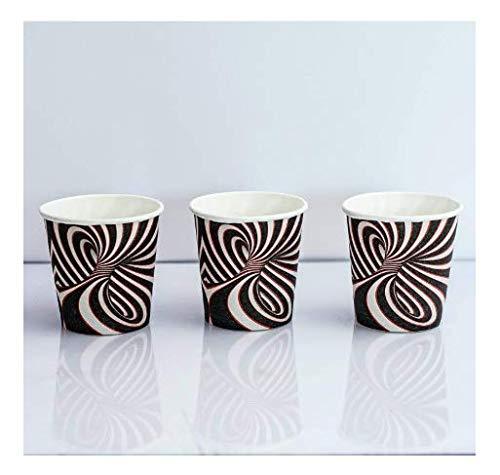 (SGdirect Espresso Disposable Paper Cups with Unique