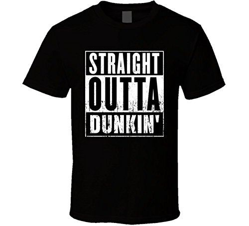 Discount Straight Outta Dunkin' Donuts Movie and Fast Food Parody T Shirt
