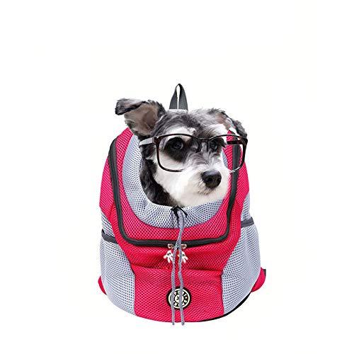 (Mbtaua-Bag Pet Carrier Backpacks Double Classic Shoulder Bag Durable Backpack For Travel, Outdoor)