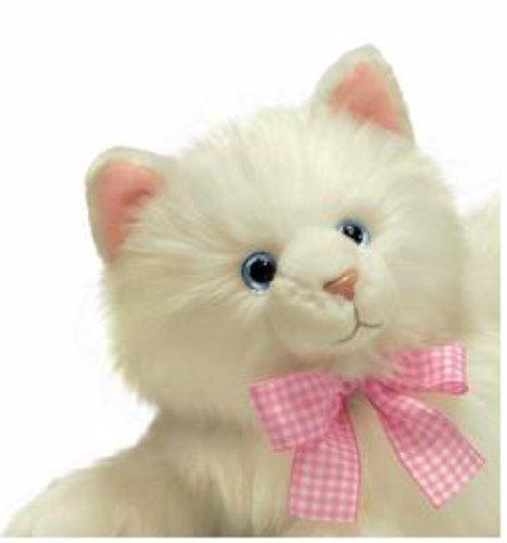 Russ Berrie Yomiko Nikki Cat - Gato de peluche (35,6 cm), color blanco: Amazon.es: Juguetes y juegos