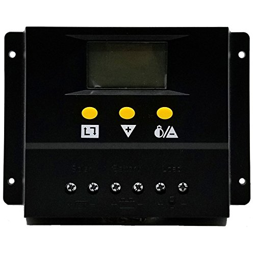 80A Solar Charge Controller PWM PV Solar Panel Charging Regulators with LCD Monitor 12V 24V Auto 960W 1360W Large amp Power Input Energy Controller ZHCSolar by ZHC