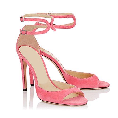 Bocca Fibbia Dei Pesci Tacchi Delle Alti Rosa Fashion 44 Girl Tacco Rosa Alti Donne Sandali Partito IfIr1nHqU