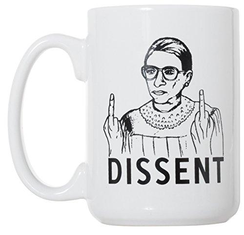 RBG Dissent Mug - Ruth Bader Ginsburg Mug 15 oz Deluxe Large Double-Sided Mug