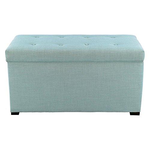 MJL Furniture Designs Angela Collection Button Tufted Upholstered Lift Top Medium Sized Bedroom Chest Storage Trunk, HJM100 Series, Sea Mist by MJL Furniture Designs