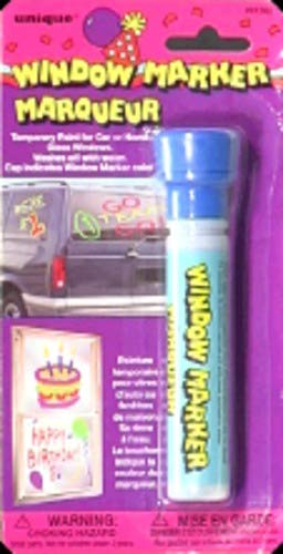 Unique Window Marker Carded Royal Blue (Pack of 24)
