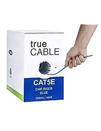 4 pares de cables de cobre sólido de 350 MHz, ETL, sin blindaje (UTP), Ethernet a granel, trueCABLE