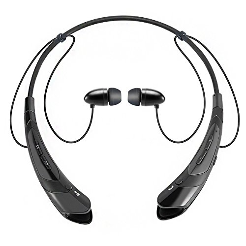 Bluetooth Earphone Headphones,V4.1 Stereo Noise Cancelling Wireless Headset, Sport Neckband Style Magnetic Earbuds With Mic For Iphone Series And Android Phones (Black2) -