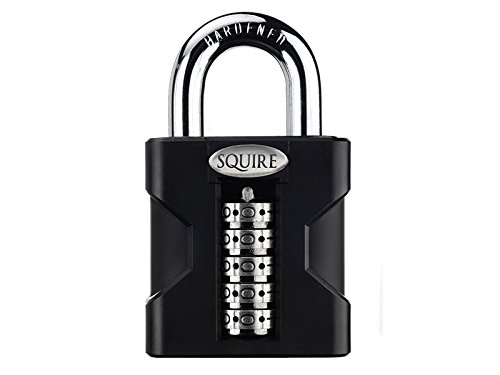 Squire Locks SS50 High Security Combination Padlock, Black by Squire Locks
