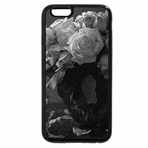 iPhone 6S Plus Case, iPhone 6 Plus Case (Black & White) - Roses
