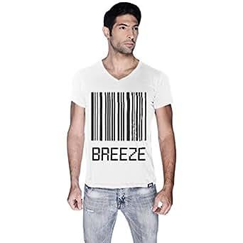 Creo White Cotton V Neck T-Shirt For Men