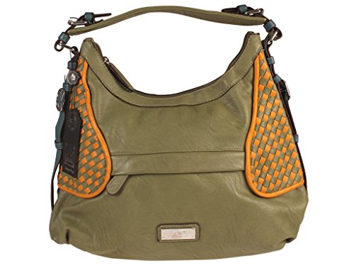 AB Collezioni Curry Womens Ladies PU Leather Designer Hand Bag - Light Green NEW