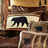 Black Bear River Plush Shams (Set of 2)