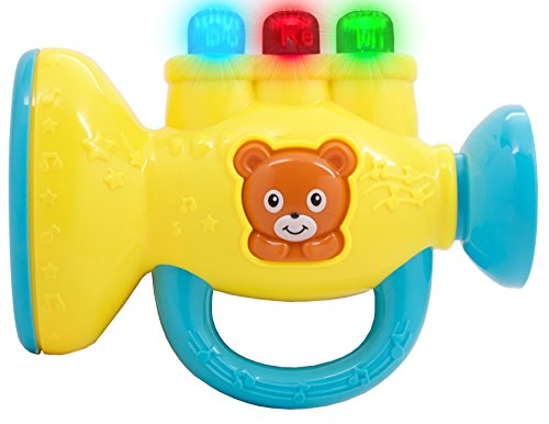 TECHEGE Toys Learn'n'Play Musical Trumpet Fun Flashing Lights, Exciting Sounds, Great Gift Idea