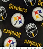 Pittsburg Steelers Fleece Handcrafted Blanket with FREE Matching Pillowcase (46Wx56L)