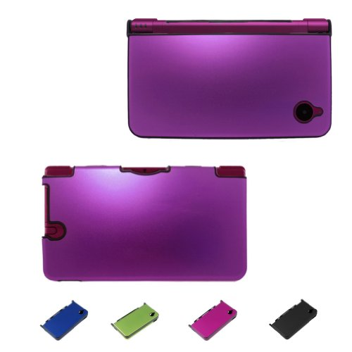 For Nintendo DSi / DSi XL , NDSI, NDSI XL Aluminum Metal Crystal Case Skin Protector Cover + Free Screen Protectors (2 Sizes to Choose) (DSi XL (XL Version), DSi XL - Purple)