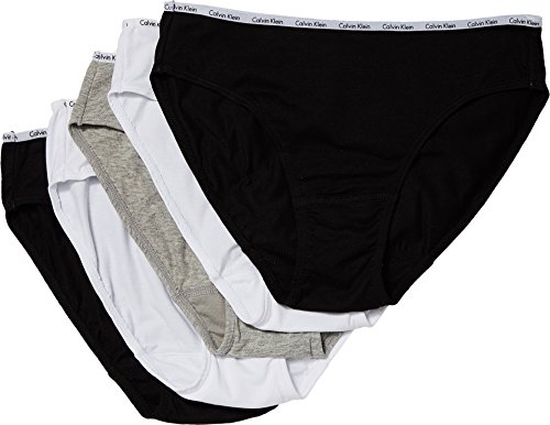 Calvin Klein Bikini Brief (Calvin Klein Underwear Women's 5 Pack Bikini Briefs, Black/White/Grey Heather, Small)