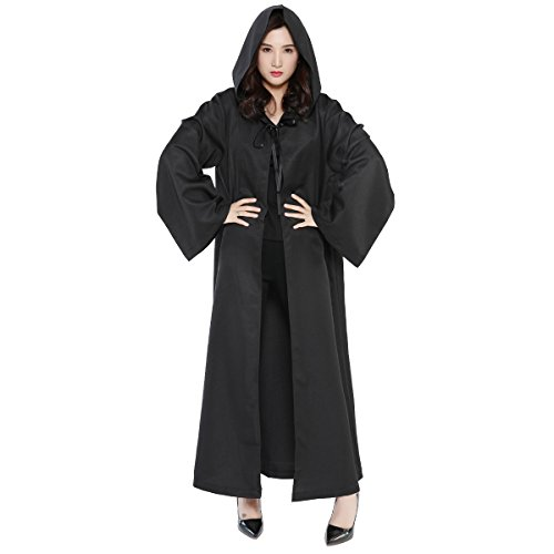 Sith Robe Hooded Costumes (WESTLINK Hooded Robe Cloak Knight Cosplay Costume Cape - New Version - Bigger Cape (Double Cloth) With Strings)