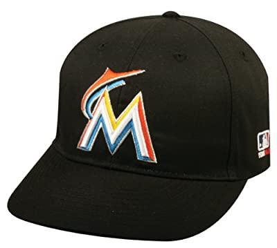 Miami Marlins Youth & Adult Official MLB Replica Adjustable Velcro Baseball Cap/Hat (Youth (6 3/8 - 7))