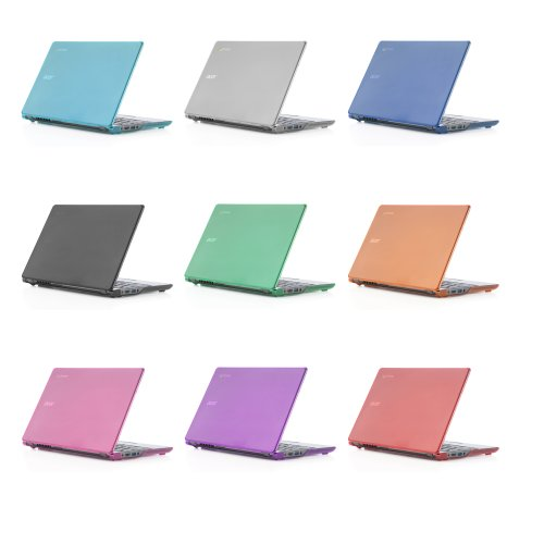 Black iPearl mCover Hard Shell Case for 11.6'' Acer C720 C720P C740 series ChromeBook Laptop (NOT compatible with NEWER 11.6'' Acer Chromebook 11 C730 / CB3-111 / CB3-131 series laptop) by mCover (Image #3)