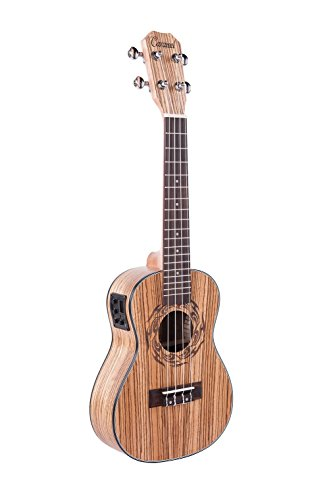 Caramel CC100 Zebra Wood Concert Acoustic Electric Ukulele