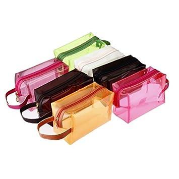 d7422c22c730 Amazon.com   Jelly Cosmetic Bag Make Up Translucent Bath Sunbag Case Candy  Color (White)   Beauty