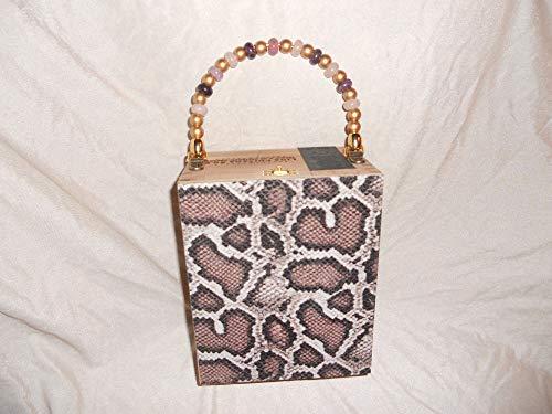 Cigarbox Purse, Animal Print Embossed Croc Leather, Tina Marie Purse Purse, Vintage