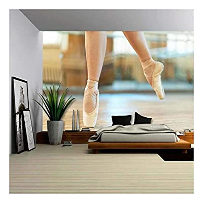 Beautiful Legs of a Dancer in Pointe - Removable Wall Mural | Self-Adhesive Large Wallpaper - 100x144 inches