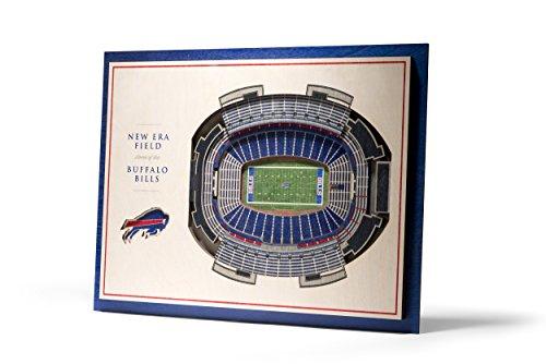 NFL Buffalo Bills 5-Layer Stadiumviews 3D Wall Art