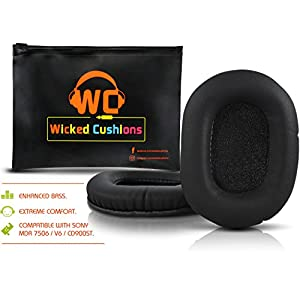 Upgraded Replacement Ear Pads For Sony MDR 7506 - Also Compatible With MDR - V6 & CD900ST By Wicked Cushions