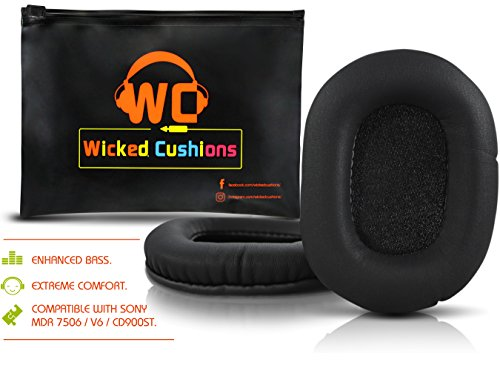 Upgraded Replacement Ear Pads For Sony MDR 7506 - Also Compatible With MDR - V6 & CD900ST By Wicked - Of Parts All The Ear