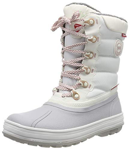 Helly Hansen Women's Tundra Cold Weather Waterproof Winter Boot with Grip, Off White/Light Grey/Faded Rose, 7