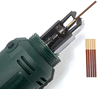 Tool Parts HHO-DF-6 Enameled Wire Stripping Machine Varnished Wire Stripper Enameled Copper Wire Stripper Cleans The Enamel Wire perfectl Color: A, Specification: EU Plug