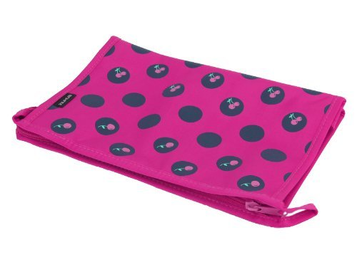 Foopp donna trucco trousse da viaggio Wash organizer zipper Hand bag case (color & # XFF1A; rosy)