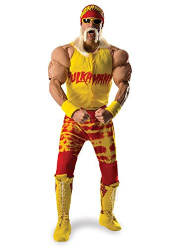 Rubie's Costume Co Men's WWE Hulk Hogan Grand Heritage Costume, Multi, X-Large