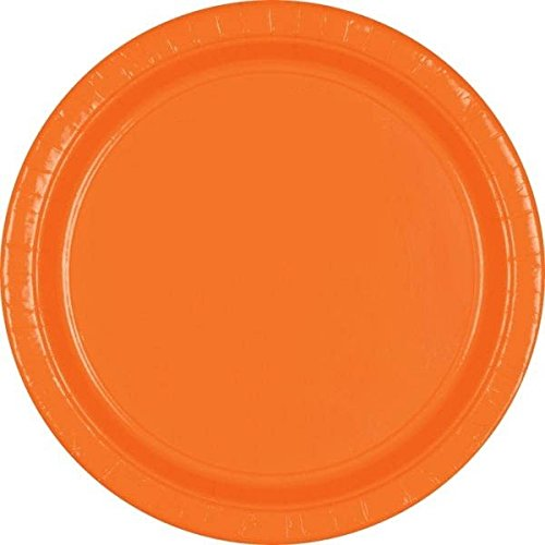 Disposable Round Dinner Party Plates Tableware, 20 Pieces, Made from Paper, Orange Peel, 10 1/2