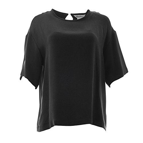 Max Mara Silk (MaxMara Max Mara Women's Finezza Oversized Silk Top SZ 8 Black)
