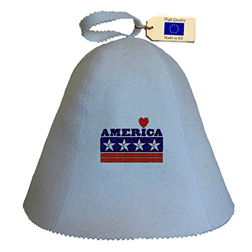 Allforsauna Sauna Hat Russian Banya Cap 100% Wool Felt Modern Lightweight Head Protection for Men and Women | America