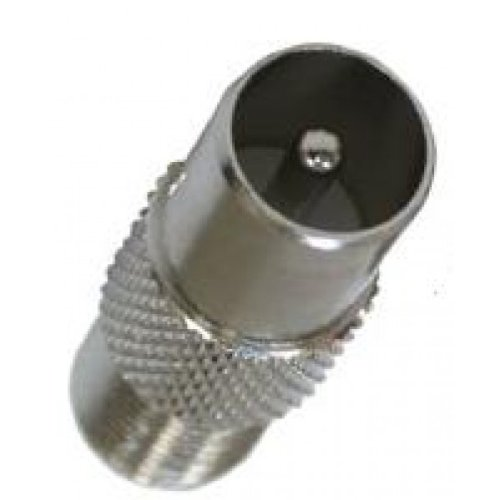 European TV And VCR Cable Adapter Male Pal Adapter (Tv European)