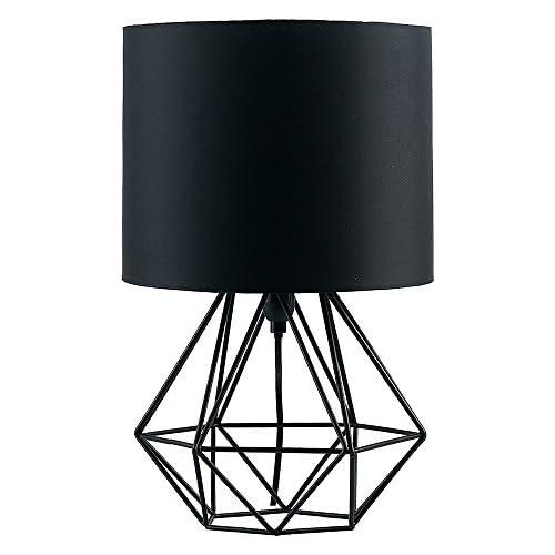 chollos oferta descuentos barato MiniSun Moderna Lámpara de Mesa Negra Innovadora Base de Estilo Jaula Pantalla Negra Iluminación Interior