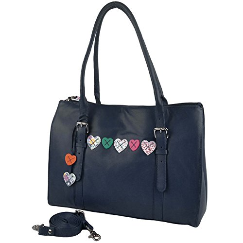 Mala Leather Women's Leather Work Bag One Size Fits All Navy by Mala Leather