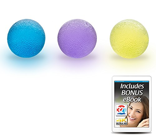 (321 STRONG Hand Therapy Grip Balls for Stress, Fidget Toys, Arthritis Relief for Kids and Adults)