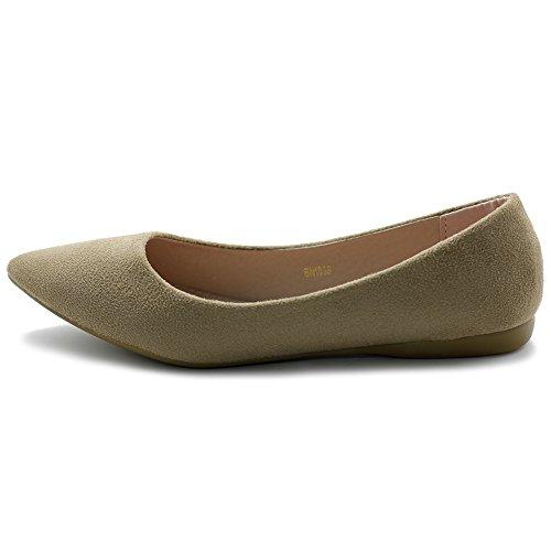 Comfort Faux Ollio Multi Flat Ballet Suede Women's Color Light Shoe Beige BI6Tn6