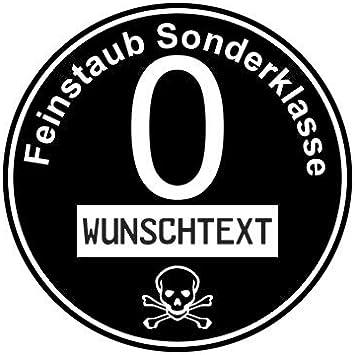 Stickerpoint24 Euro 0 Plakette Aufkleber Feinstaub Sonderklasse Diesel Umweltplakette Wunschtext Auto