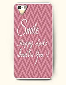 For SamSung Galaxy S5 Mini Phone Case Cover Hard with Design Smile Happy Looks - Stripes - For SamSung Galaxy S5 Mini Phone Case Cover