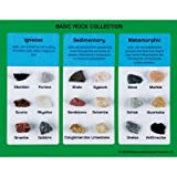 American Educational Products BASIC ROCK COLLECTION - IGNEOUS, SEDIMENTARY,METAMORPHIC 18 MOUNTED SPECIMENS