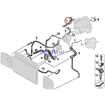 Amazon Com Bmw Genuine Cooling System Expansion Tank Coolant Hoses