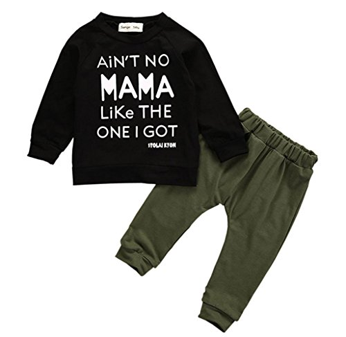 Baby Kids Girls Letters Printed Long Sleeve T-shirts Tops Clothes - 5