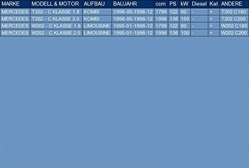 pour T202 - C KLASSE W202 - C KLASSE 1.8 2.0 FAMILIARE BERLINA 122//136hp 1995-1996 ETS-EXHAUST 50926 Il sistema di silenziatori kit di montaggio