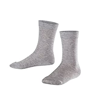 FALKE Kids Cotton Finesse Socks – 80% Cotton, Multiple Colours, UK sizes 6 (kid) – 8 (EU 23-42), 1 Pair – Fine and skin-friendly cotton