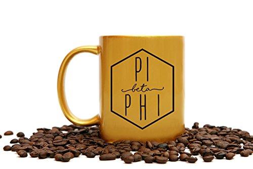 - Pi Beta Phi Mug | 11 Ounce Gold Sorority Coffee Cup